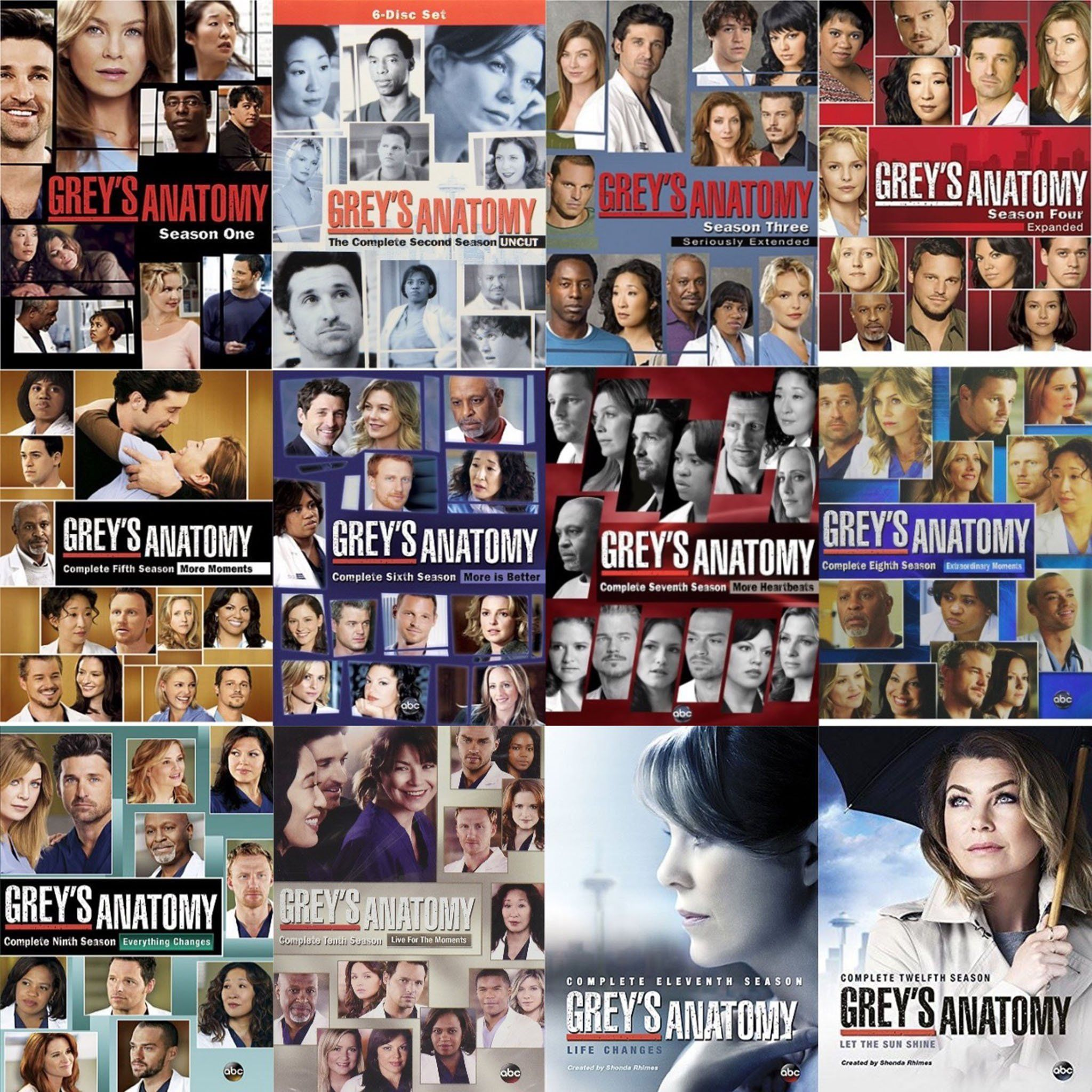 Greys Anatomy Dvd Seasons 1 13 Set Grays Anatomy Pinterest