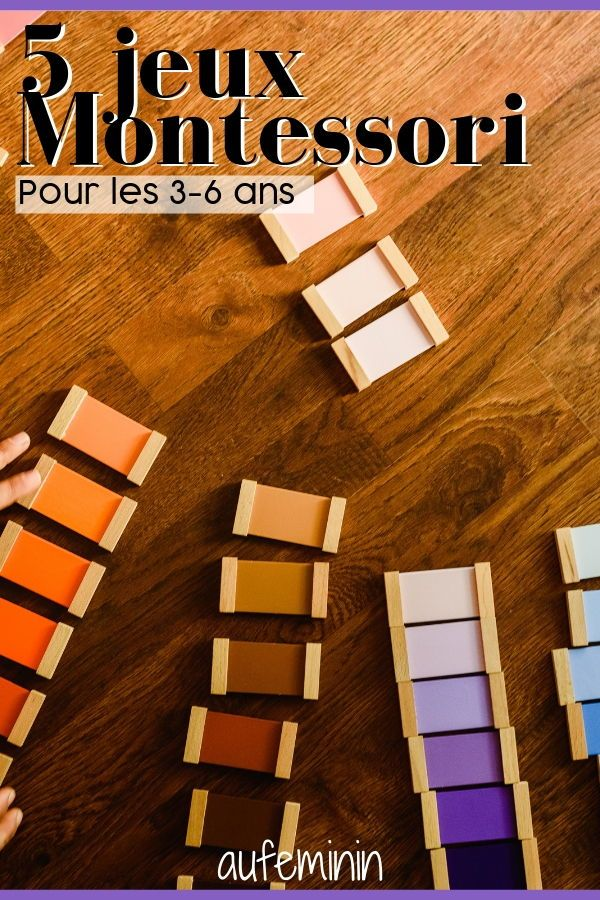 5 jeux montessori pour les 3 6 ans enfants grandir. Black Bedroom Furniture Sets. Home Design Ideas