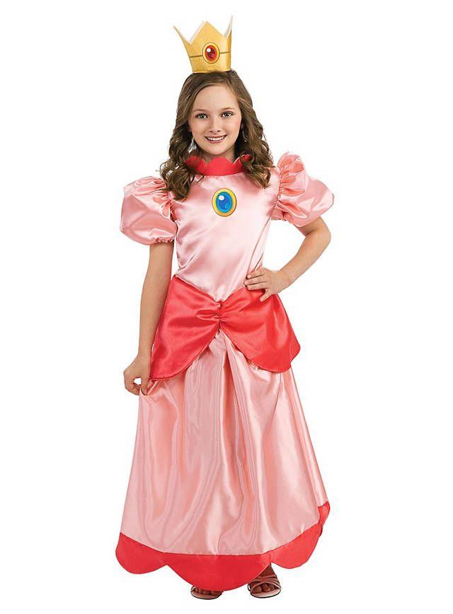 Super Mario Prinzessin Peach Kinderkostum Spiel Pilzkonigreich