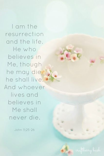 Resurrection John 11:25 - 26