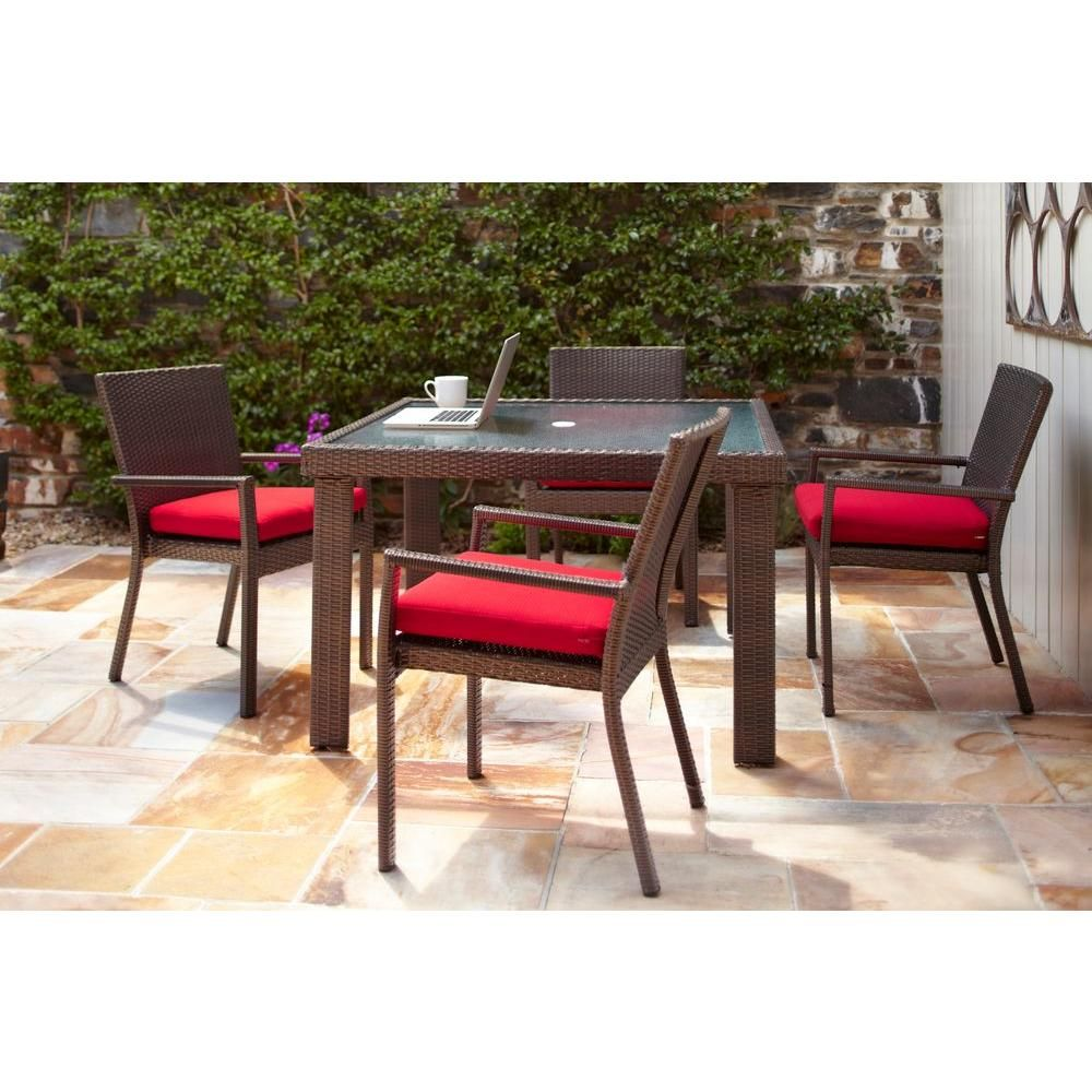 Hampton Bay 5 Piece Patio Dining Set