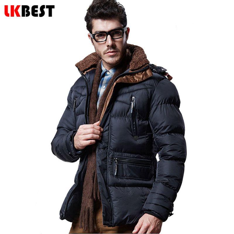 2017 winter jacket men Hooded winter down coat fashion cotton men ...