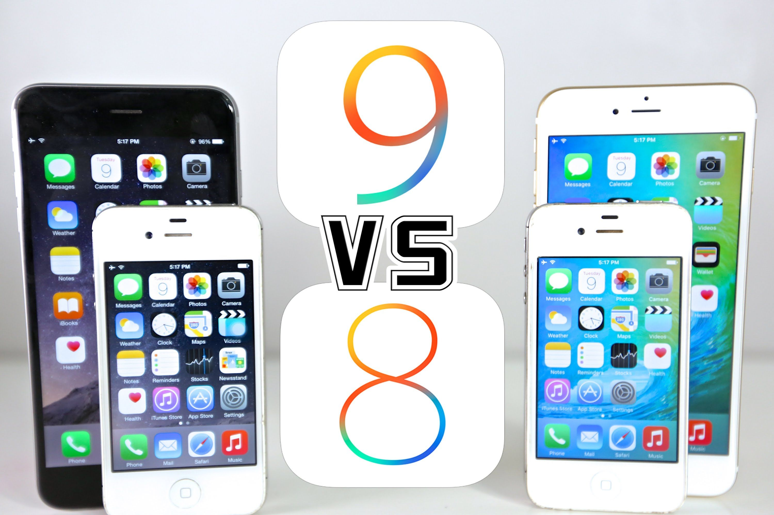 iOS 9 VS iOS 8 on iPhone 6, 5S, 5 & 4S Which Is Faster