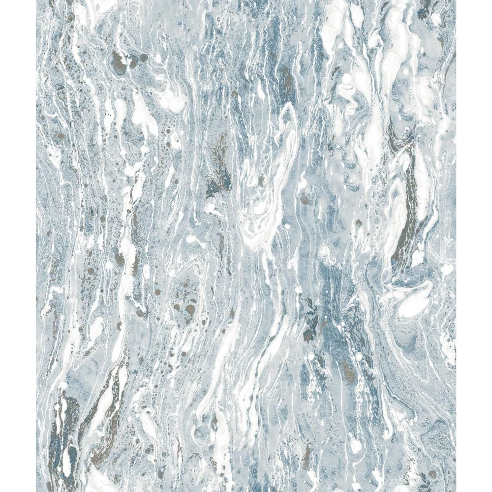 Roommates Blue Marble Seas Vinyl Peelable Wallpaper Covers 28 18 Sq Ft Rmk11279wp The Home Depot Peel And Stick Wallpaper Wallpaper Roll Peelable Wallpaper