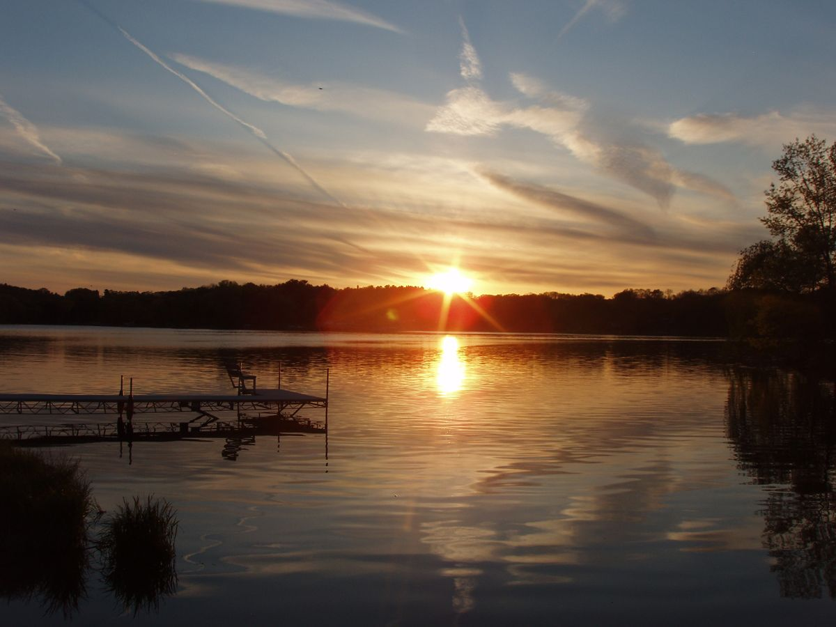 Beautiful Sunset At Lake Redstone Thanks To Mr Reid For