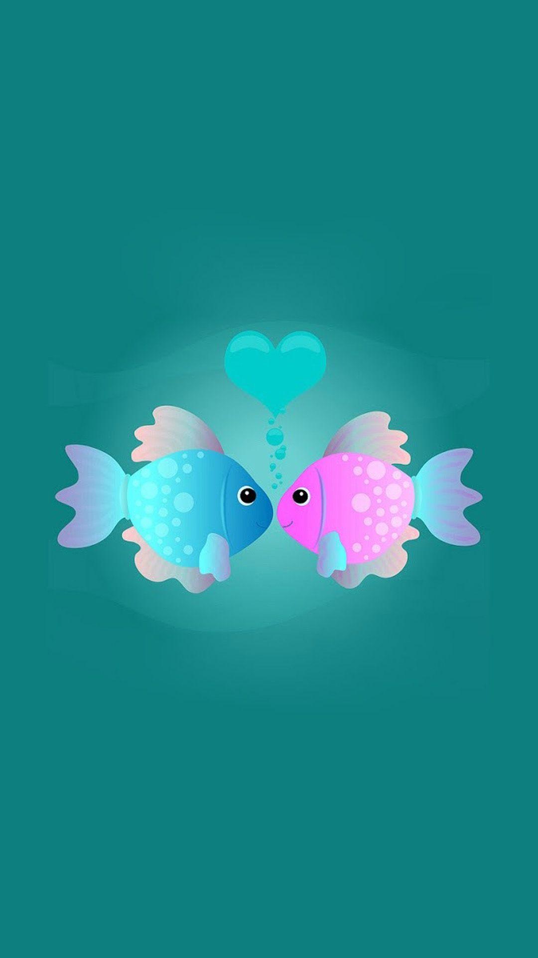 Cartoon Kissing Fish Stock Vector Illustration Of Cute