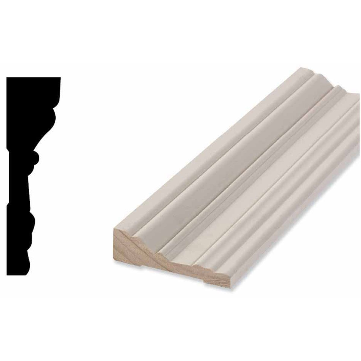 3 1 4 Inch H X 7 8 Inch P X 87 Inch L Casing Moulding Profile 1646 Primed Fingerjoint Pine Moulding Profiles Prime Inches