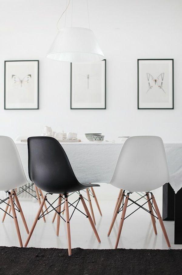Moderne Schwarz-weiße Stühle-esszimmer Design Idee | Interiors ... Designer Stuhl Esszimmer