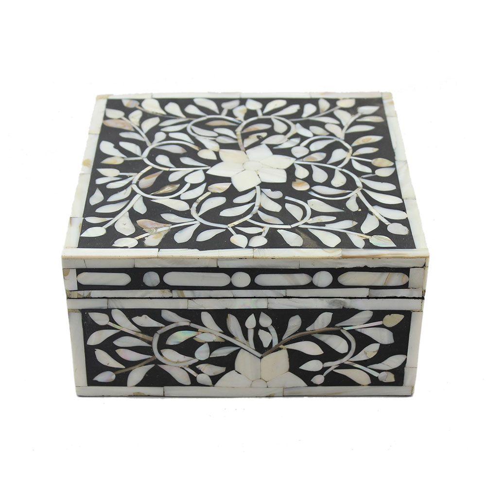 Decorative Boxes Bold Black Pearl Inlay Decorative Box  Monochrome  Pinterest