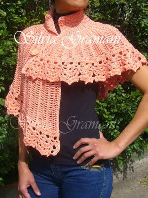 Capelet Assimtrica Pattern In Portuguese Diy Pinterest