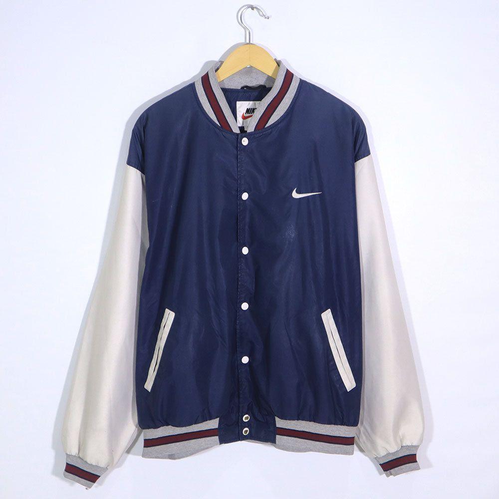Rare Vintage 90s Nike Bomber Jacket Vintage Nike Varsity Jacket Vintage Nike Sweatshirt Bomber Jacket Vintage Nike Varsity Jacket [ 1000 x 1000 Pixel ]