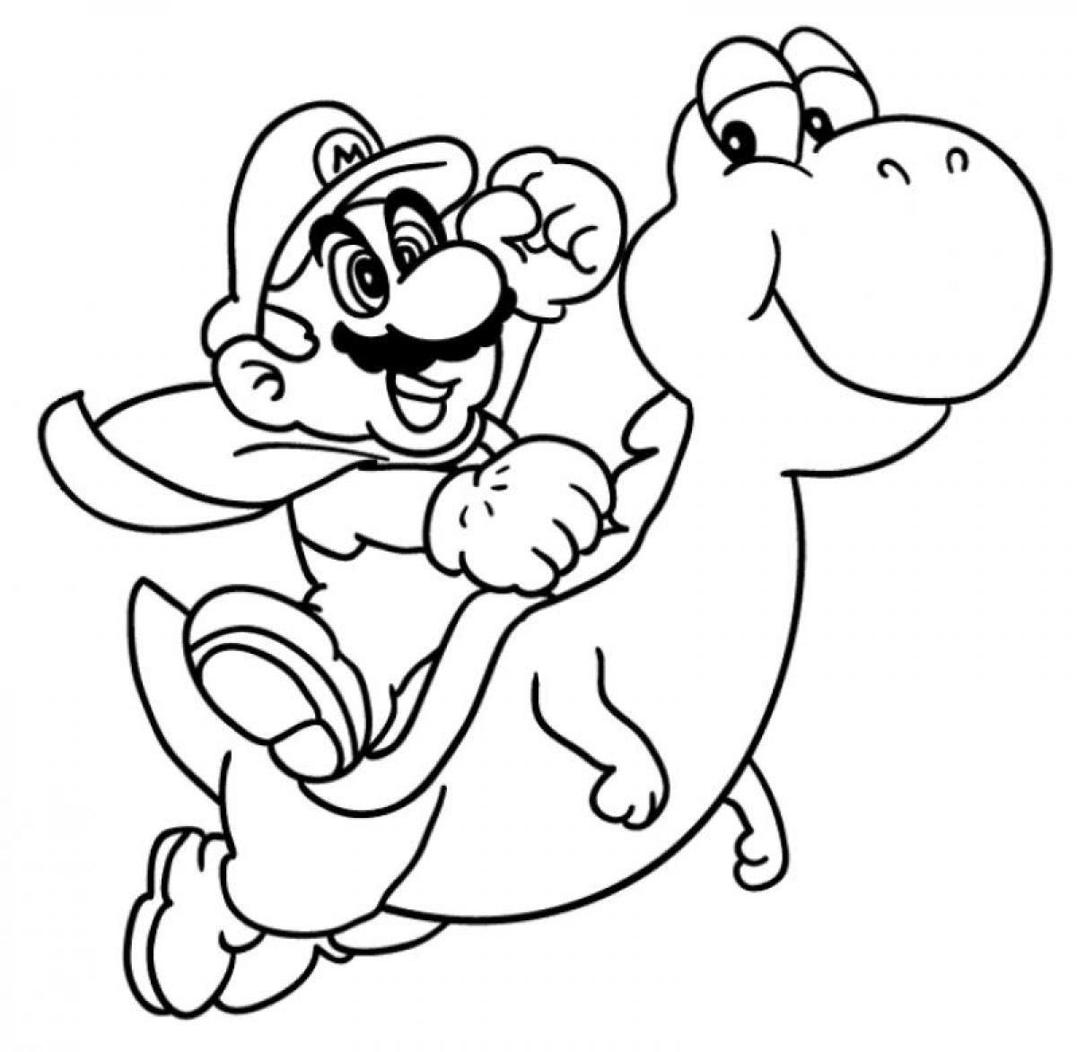 Mobile shimmer and shine coloring games coloring pages ausmalbilder - Cool Super Mario Coloring Pages Selfcoloringpages Com