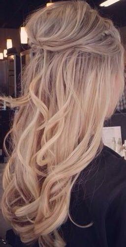 20 Awesome Half Up Half Down Wedding Hairstyle Ideas Elegantweddinginvites Com Blog Long Hair Styles Loose Curls Wedding Hair Styles