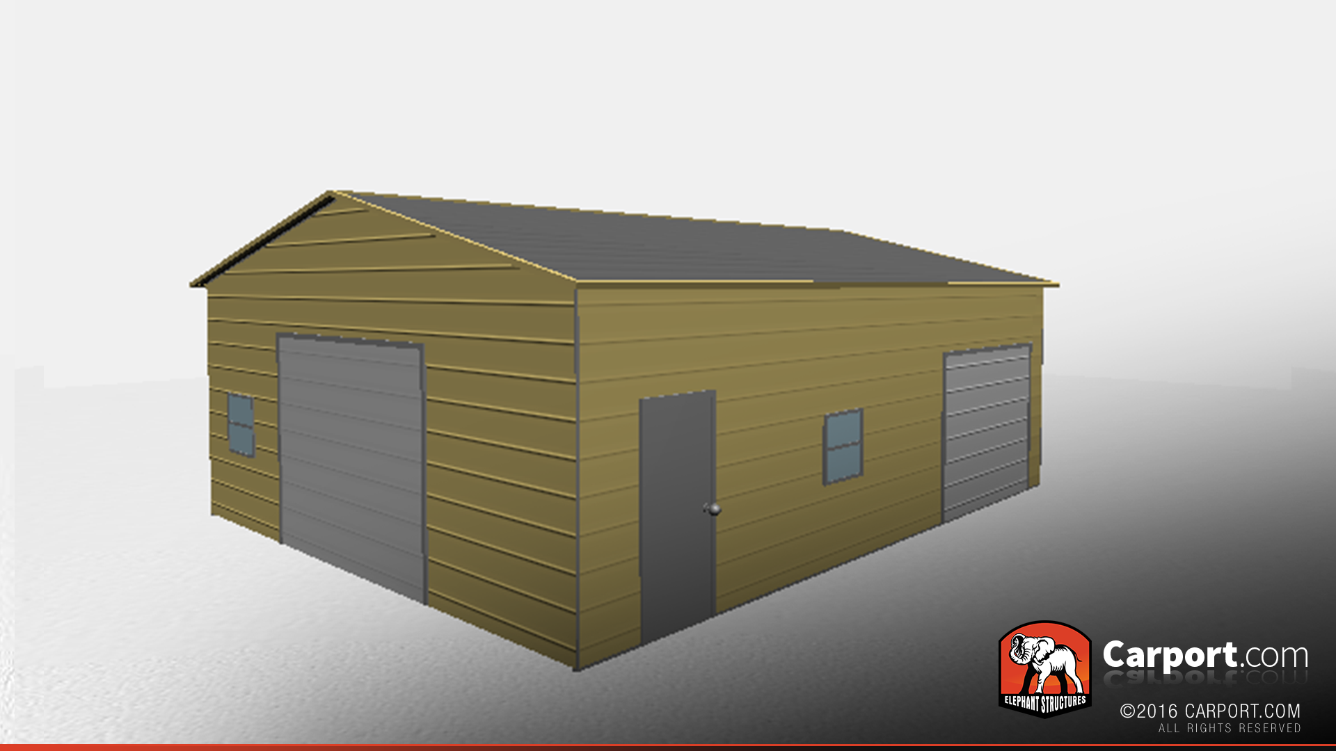 Two Car Metal Garage Workshop 24 X 31 X 12 In 2020 Metal