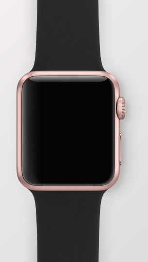 023dad0ac08 Apple Watch - 38mm Rose Gold with Black Sport Band. Oooooooh mmmmmm ggggg