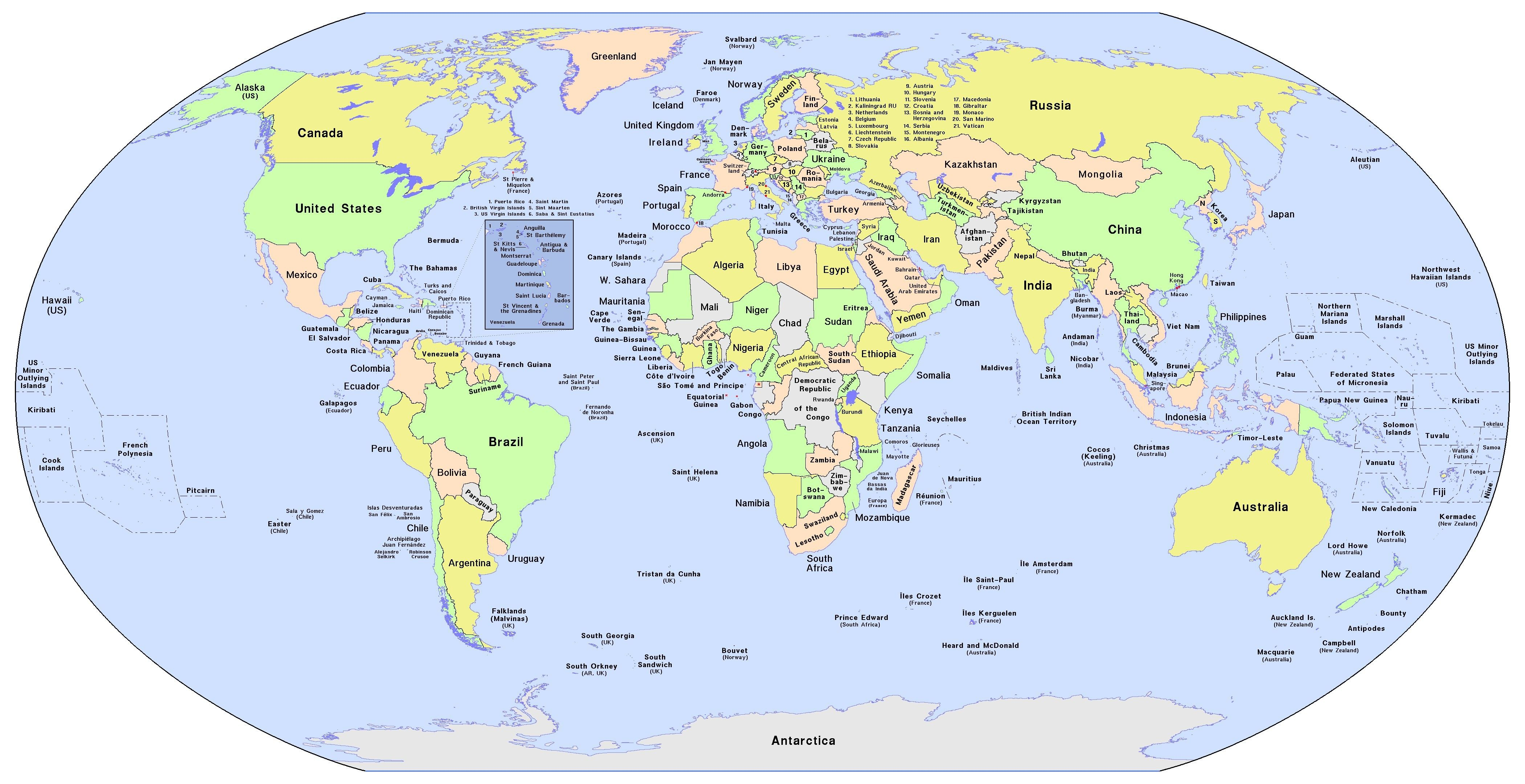 World Map Countries With Names New Full Country Name At