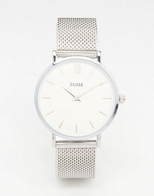 Cl30009 Minuit Jewelry WatchRelógios Watches Silver Mesh Cluse Aj543RL