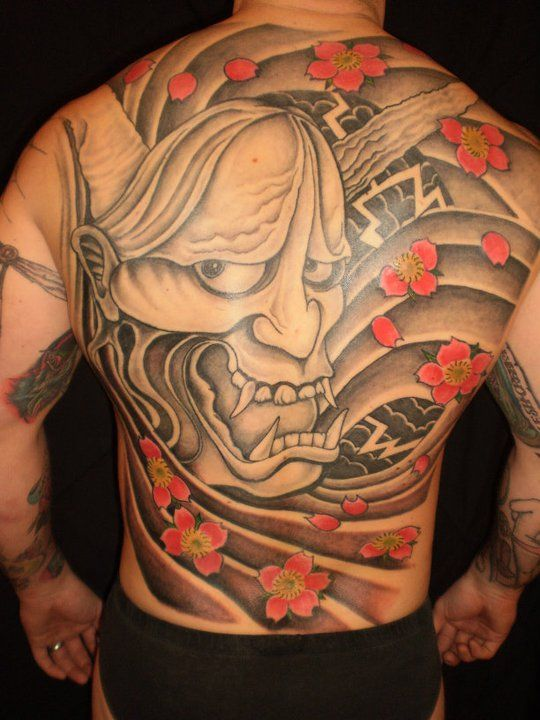 Full back piece on his brother Pat.  Gorgeous.