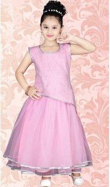 205dbce12e Mistyrose Color Net A Line Style Girls Readymade Salwar Kameez |  FH509077537 #girls , #