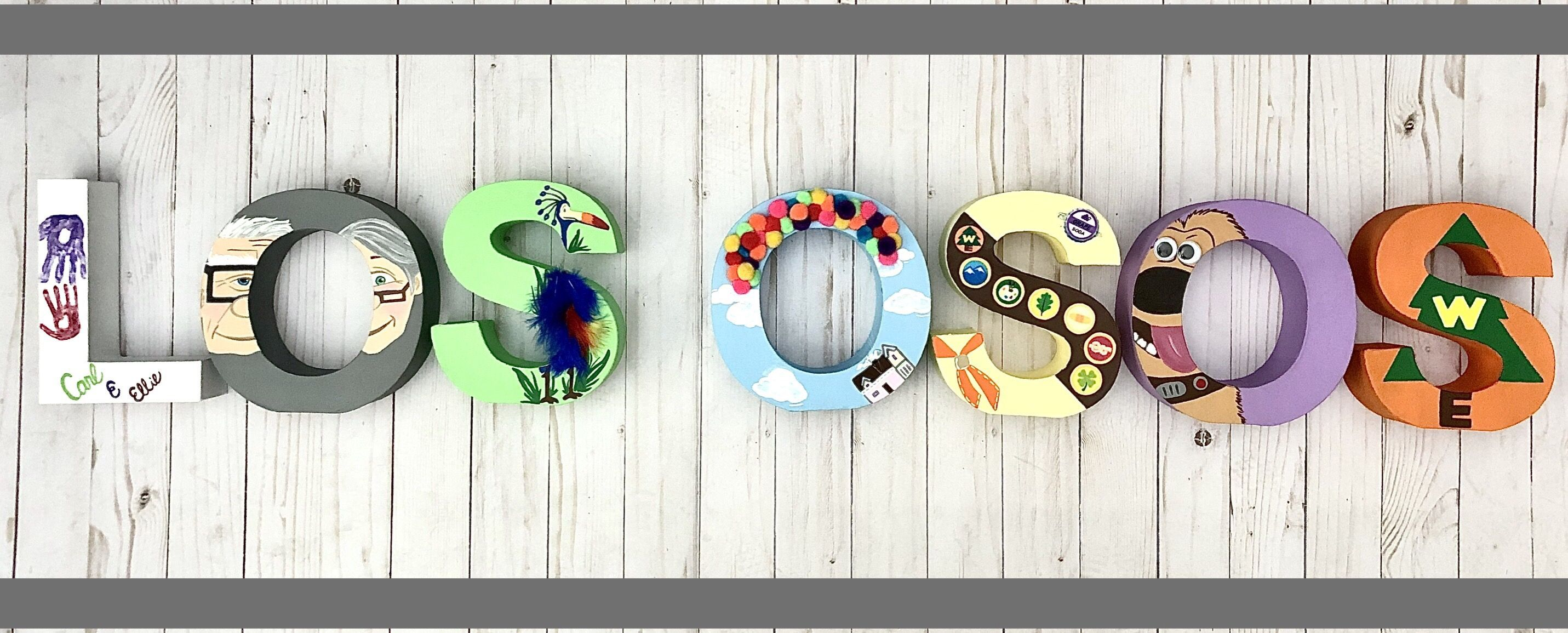 Custom letters inspired by the movie UP! Customize an