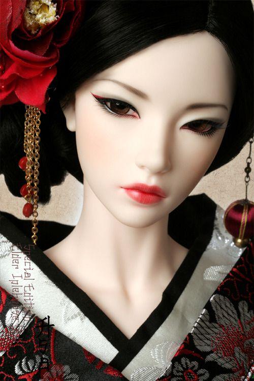 Amazing Japanese Bjd Doll Ball-Jointed Asian Geisha Totally Love  Dolls  Geisha Makeup