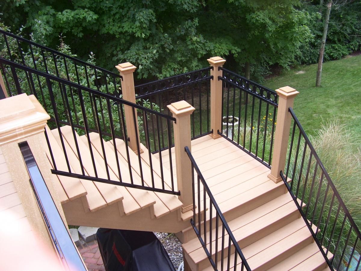 Fortress Fe26 Prefabricated Railing Panels Fortress | Prefab Wooden Steps Outdoor