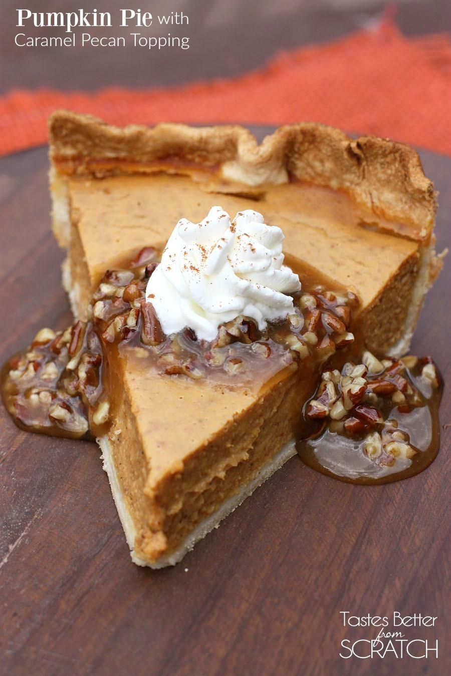 Pumpkin Pie with Pecan-Caramel Topping photo