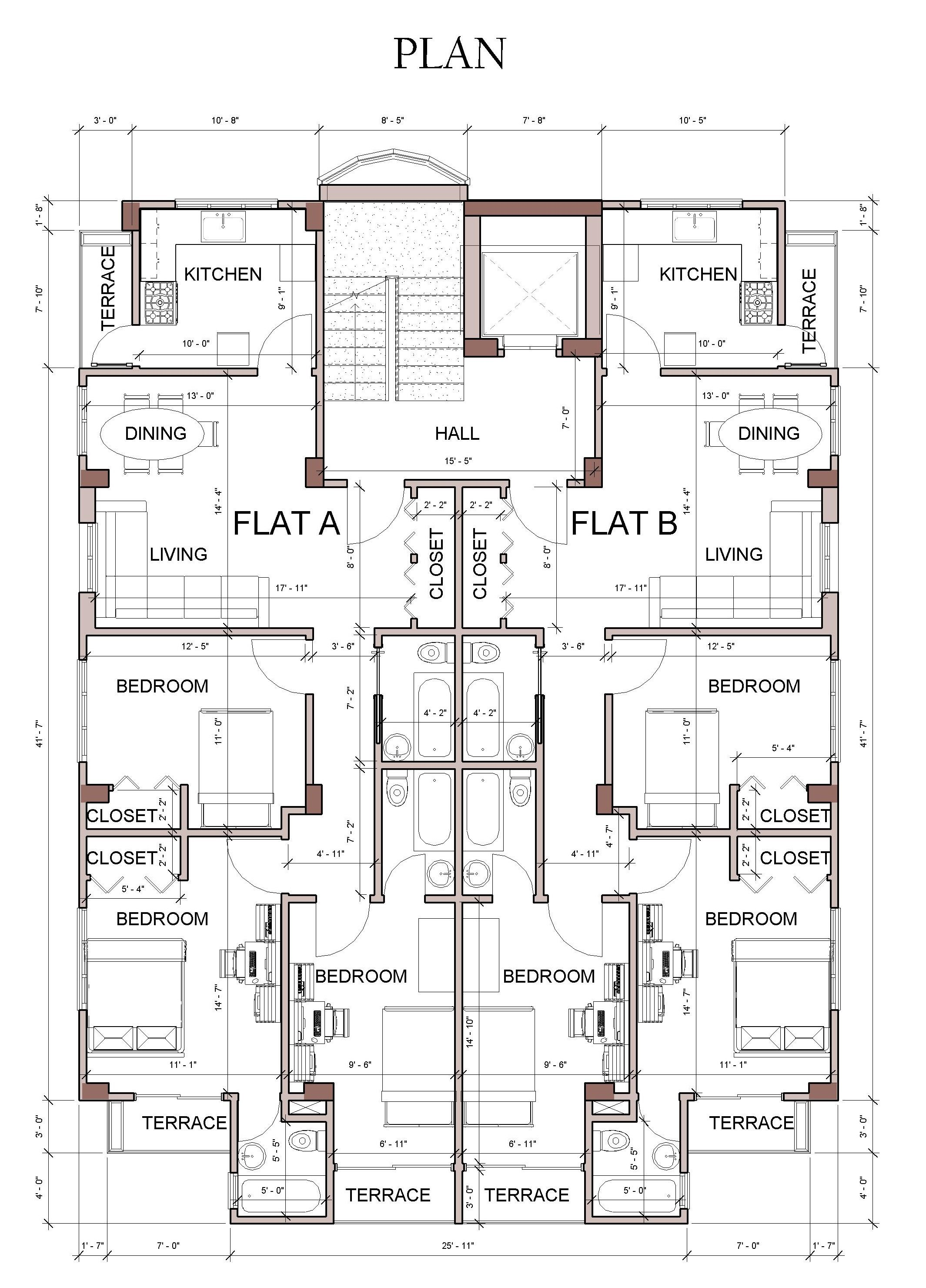 Typical Floor Plan Floor Plan Design Residential Architecture Plan Hotel Floor Plan