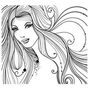 free printable coloring pages for girls - Hair Coloring Pages