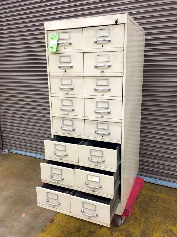 Super cool, vintage card catalog