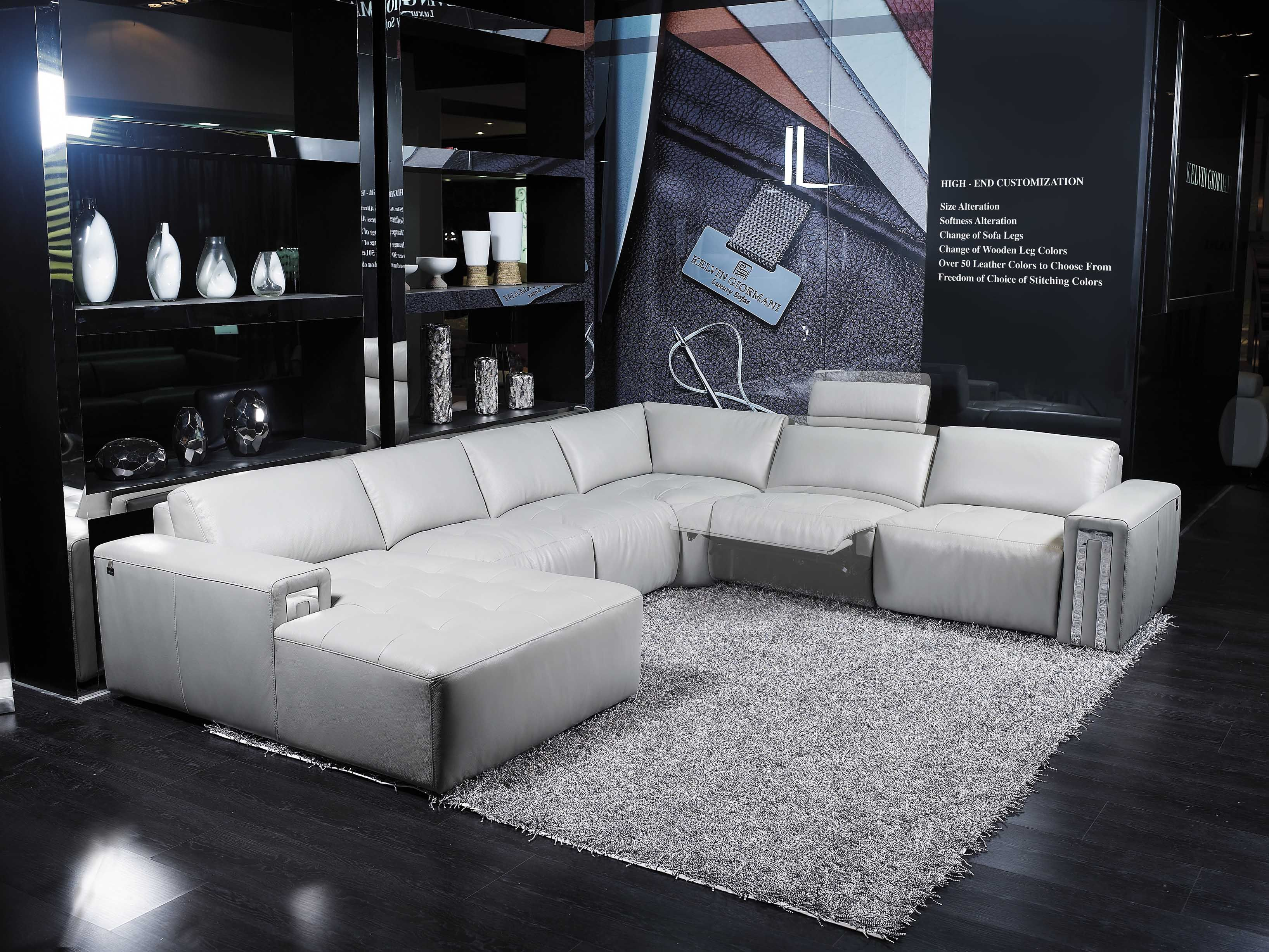 Model 0138V Levice III Planums Popular Reclining Sectional Planum Collection Levice III