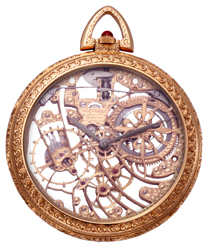 Antique Vintage Pocket Watch png by