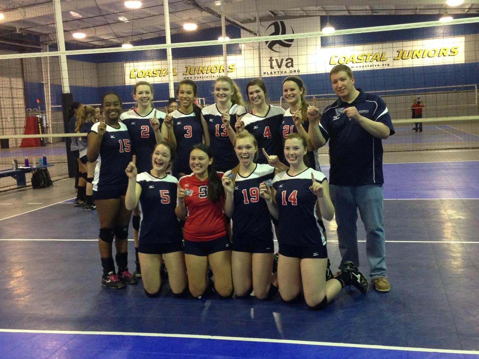 Rvc Girls 16 Zonal Win Tva Tournament 2 14 Girls 16 Volleyball Tournaments