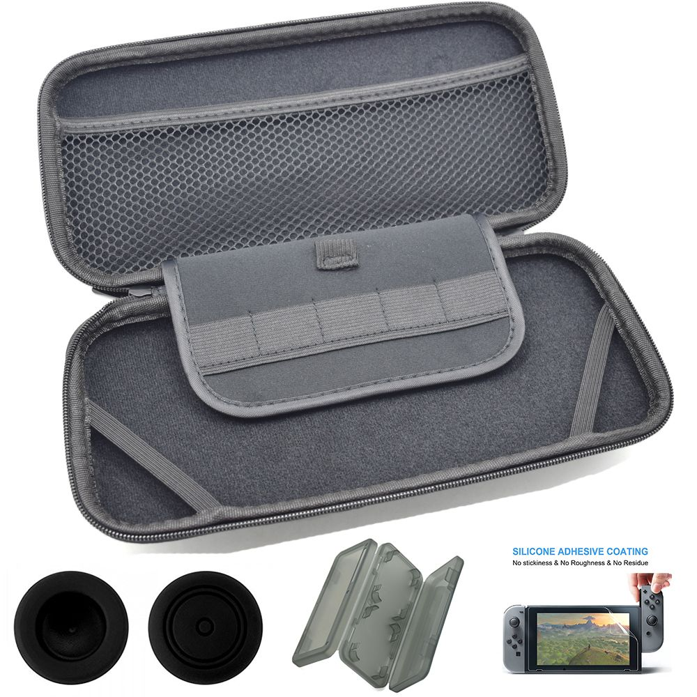 Hard Travel Protective Pouch Bag For Nintendo Switch Ns Vedeo Game Carrying Case Screen Protector Official Console