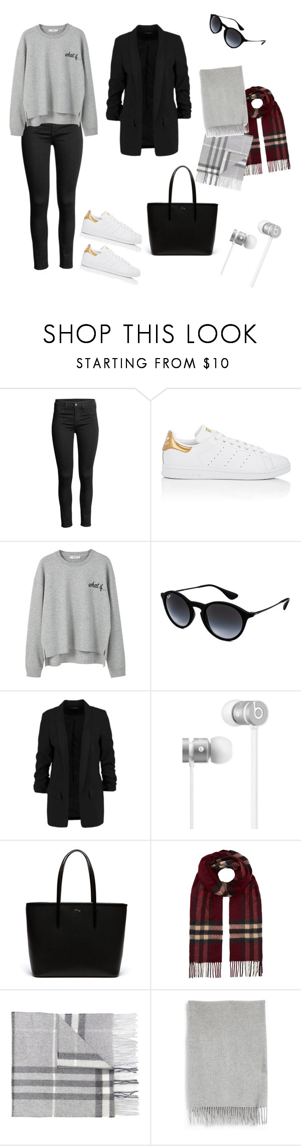 """ED"" by lisamahalkita ❤ liked on Polyvore featuring adidas, MANGO, Ray-Ban, Beats by Dr. Dre, Lacoste, Burberry and Acne Studios"