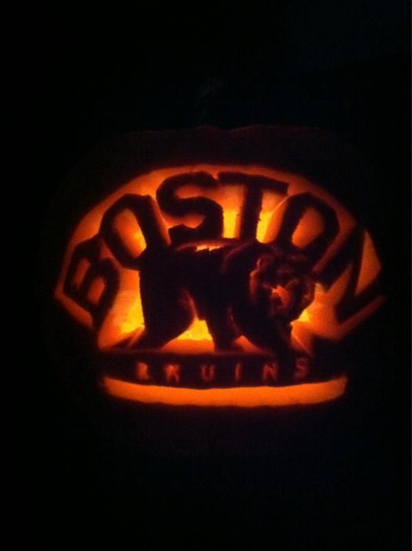 Great Attention To Detail On This Pumpkin By Sliney89 Bruins Hockey Teams
