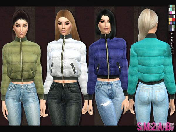 The Sims Resource: 126 - Padded jacket by sims2fanbg • Sims 4