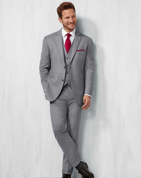 Men\'s Wearhouse Notch Lapel Gray Suit Wedding Tuxedos + Suit photo ...