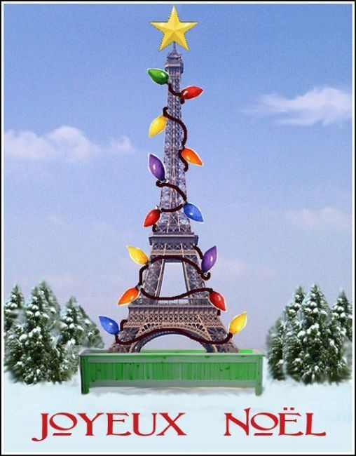 Art: Christmas in Paris by Artist Linda Falge | Tis the Season to be ...