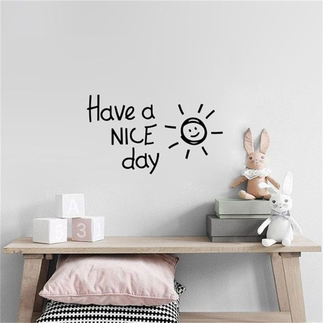 have a nice day lovely sun vinyl wall sticker living room bedroom