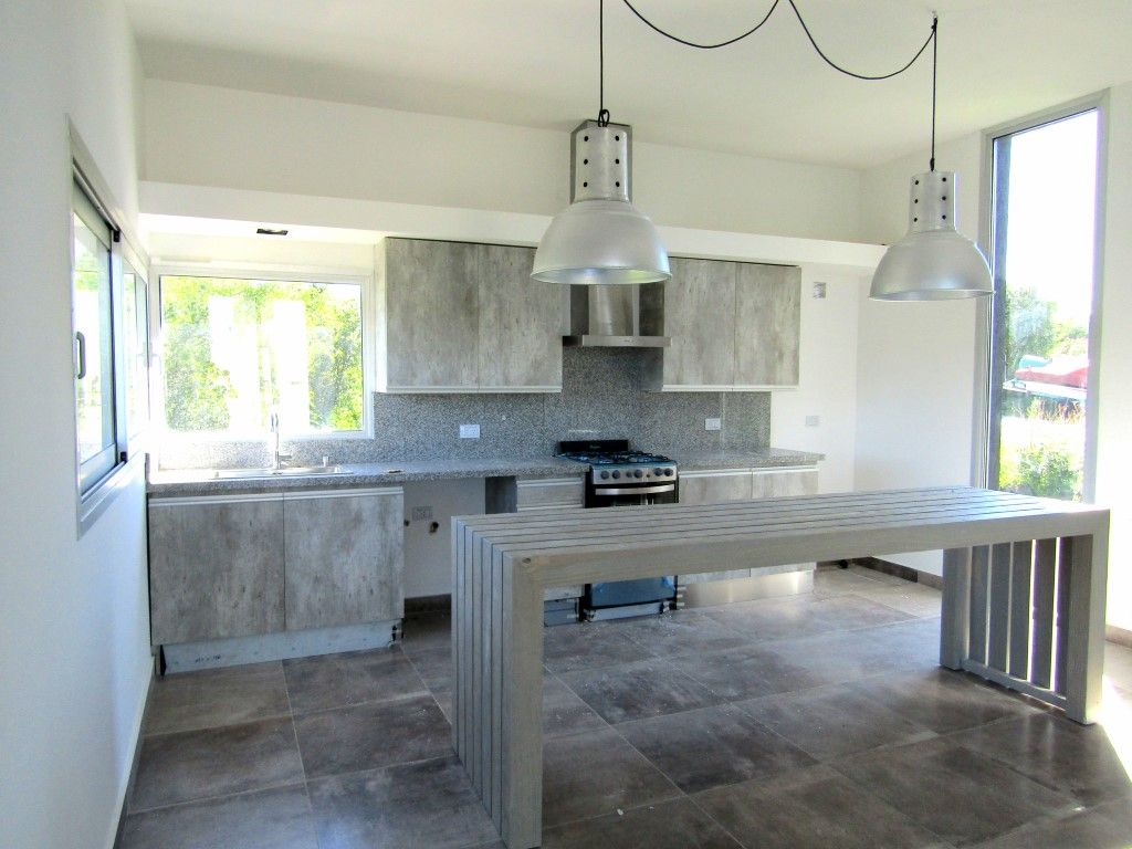 Mueble de cocina en melamina concreto meropolitan for Muebles de cocina en l
