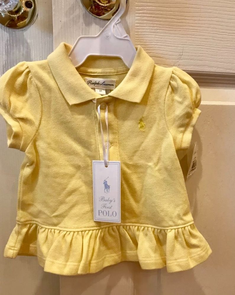 622637fac Ralph Lauren Baby Girl Size 3 Months My First Polo Yellow Ruffle Bottom NWT  #fashion #clothing #shoes #accessories #babytoddlerclothing ...