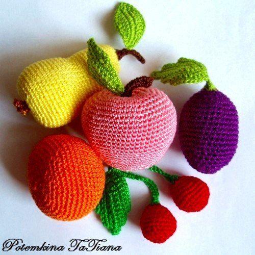 Frutas crochet paso a paso ganchillo lugares que visitar - Manualidades a ganchillo ...