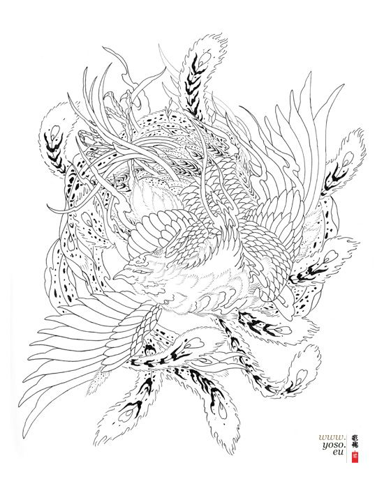 Phoenix Tattoo Design Jpg 550 700 Japanese Tattoo Japanese Phoenix Phoenix Drawing