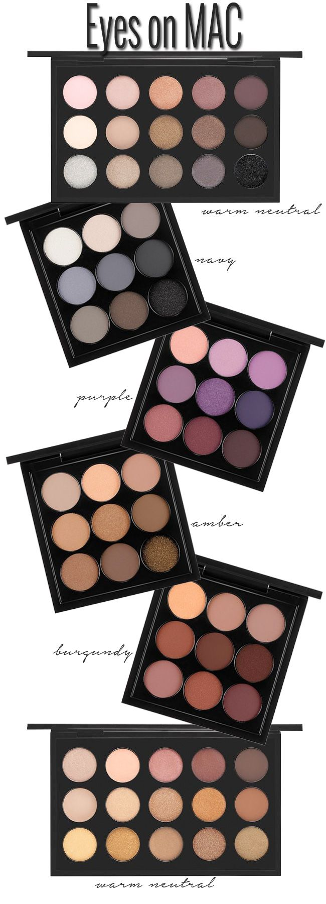 I only have one MAC pallet (the warm neutrals) but their eyeshadow is the BEST. Easily blended, highly pigmented & not horrible price wise! #MAC # Makeup