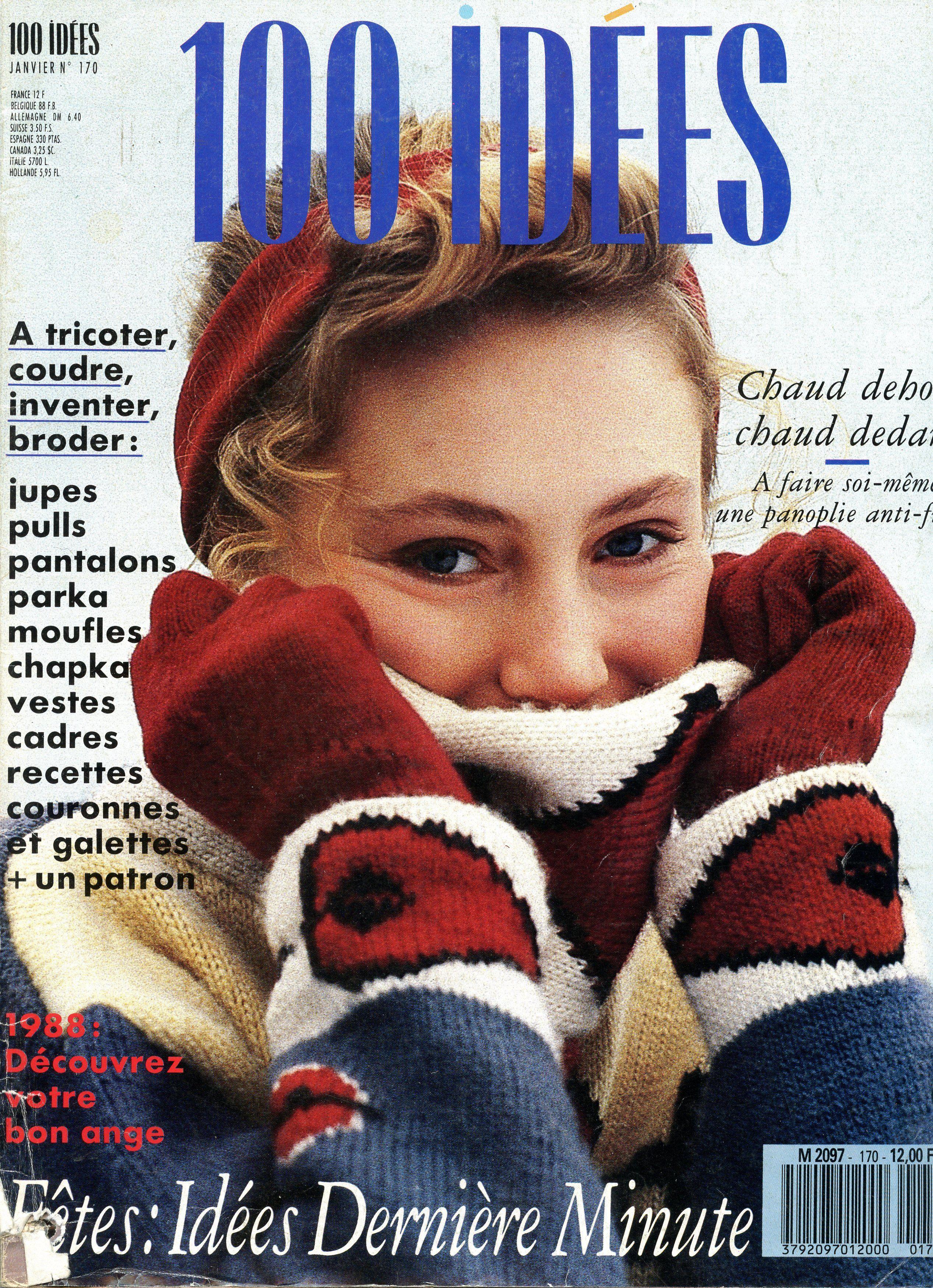 100 Idées n° 170 - janvier 1988 - couverture - photo M. Berton.