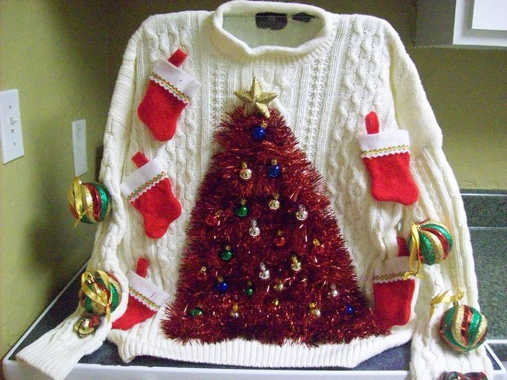 Ugly Christmas Sweater Party Ideas For Adults Part - 44: Ugly Sweater Party Ideas   Image Detail For -Ugly Christmas Sweater 09 Tree  Made From