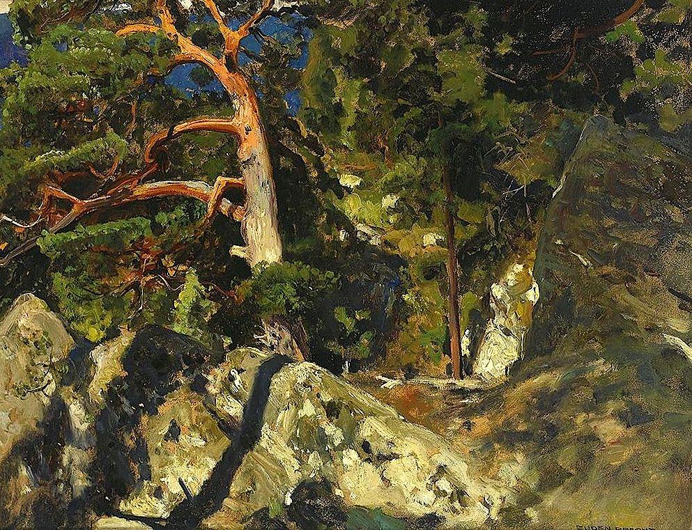 Pine in the Rocks (Kiefer in den Felsen)  Eugen Felix Prosper Bracht - 1902