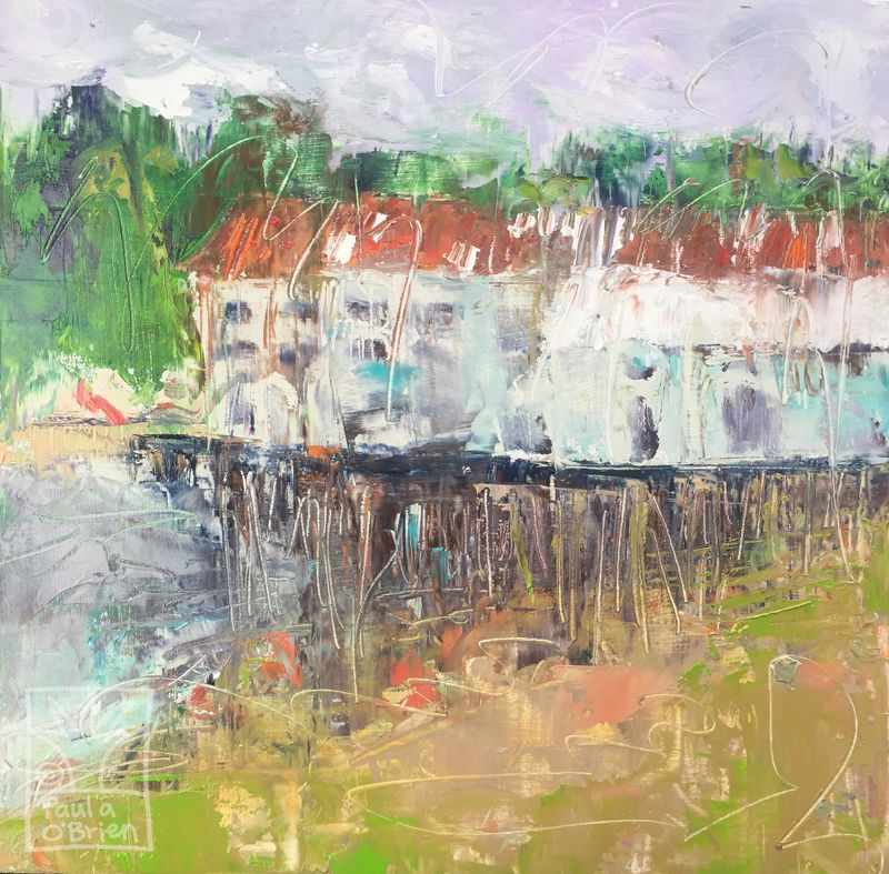 Paula O'Brien, palette knife painting, plein air painting