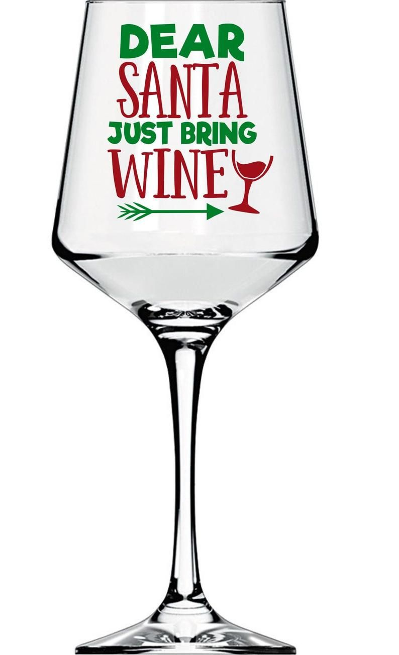 Personalized Holiday Wine Glass 16 Oz 12 Designs Funny Etsy Christmas Wine Glasses Wine Glass Sayings Holiday Wine Glasses